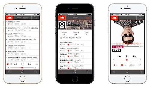 SoundCloud Music App Screen Shots