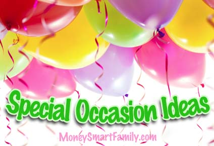 Ideas for saving money on hosting special occasion parties.