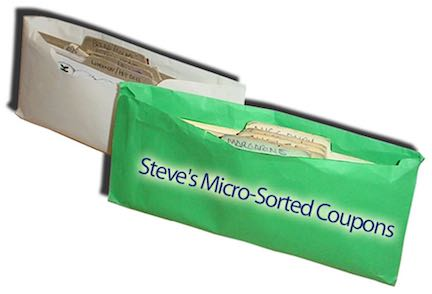 Steve's coupon filing system - 2 Envelopes
