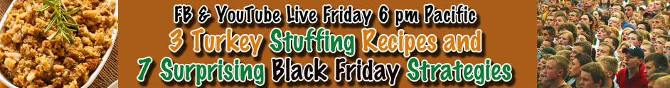 Stuffing and Black Friday Banner Announcement