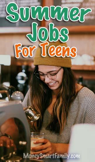 Summer Jobs for Teens - a girl working as a barista at a coffee shop.