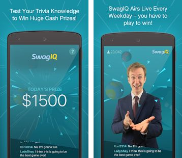 Swag-IQ Trivia Game screen shots.