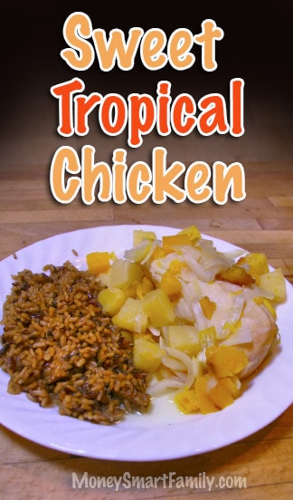 Sweet Tropical Chicken with Mango and Pineapple Recipe