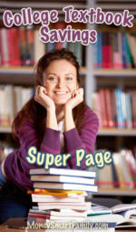 A super page full of college textbook moneysaving tips and hacks.