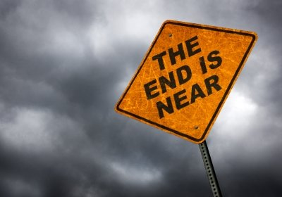 The End is Near Street Sign.