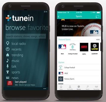 Tunein Radio App Screenshots