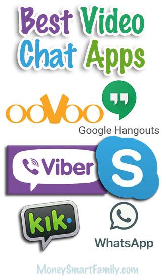 Video chat app logos.