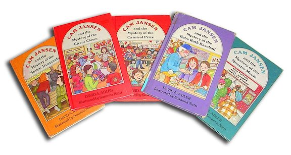The Cam Jansen mystery series for kids.