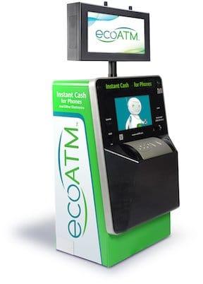 ecoATM cell phone kiosk.