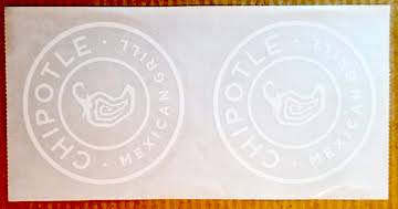 2 free stickers from Chipotle Mexican Grill.