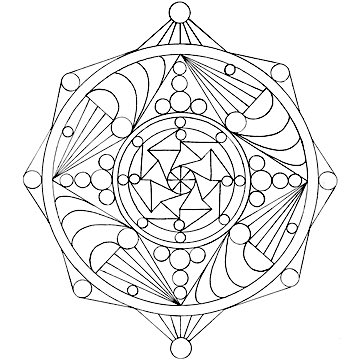 Monday Mandala free coloring page example