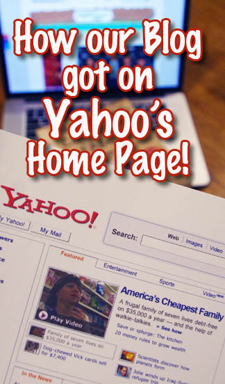 How our blog got featured on Yahoo's Home Page.