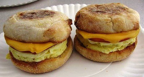 Homemade egg mcmuffins - Thanksgiving traditions.