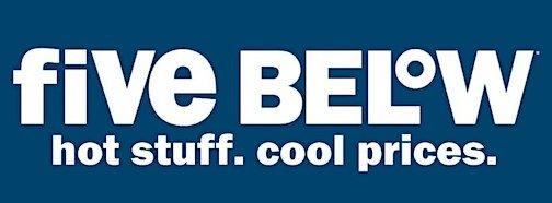 Five Below discount store logo.