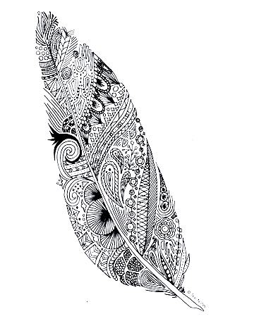 A Feather coloring page from TealNotes.com