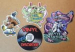 4 free stickers from Vinyl Disorder.