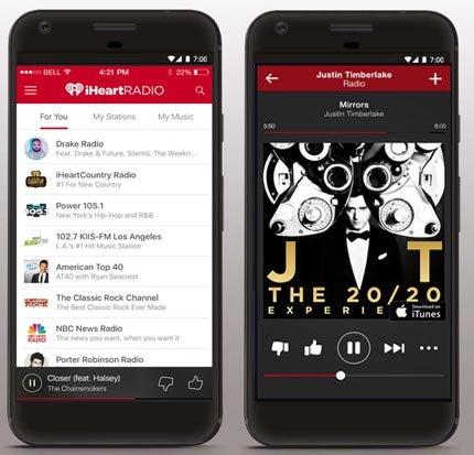 iHeart Radio Music App screenshots