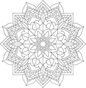 Hello kids adult coloring page - Mandala.
