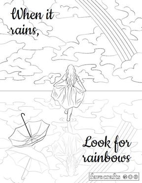 Fave Crafts Free coloring pages girl walking on a lake.