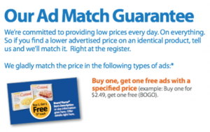 Walmart Ad Match Guarantee