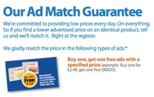 Walmart Ad Match Guarantee