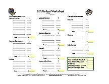Gift Budget Worksheet