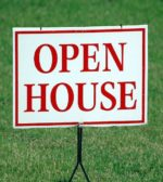 Open House sign on a home for sale
