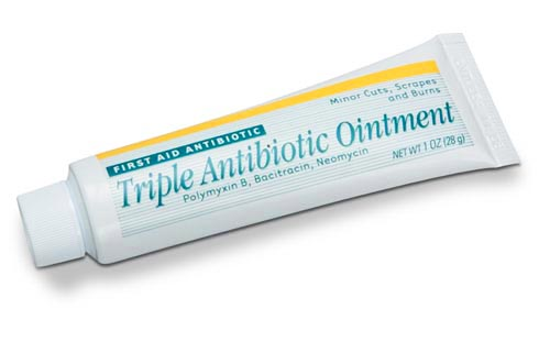 Triple antibiotic ointment for preventing colds.