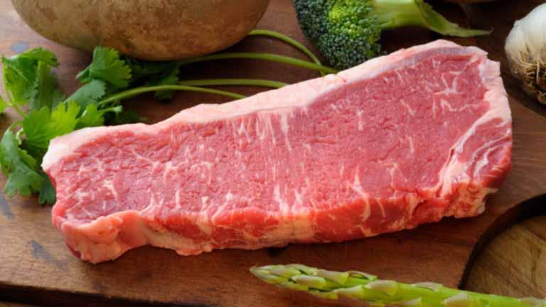 Zaycon beef strip steak.